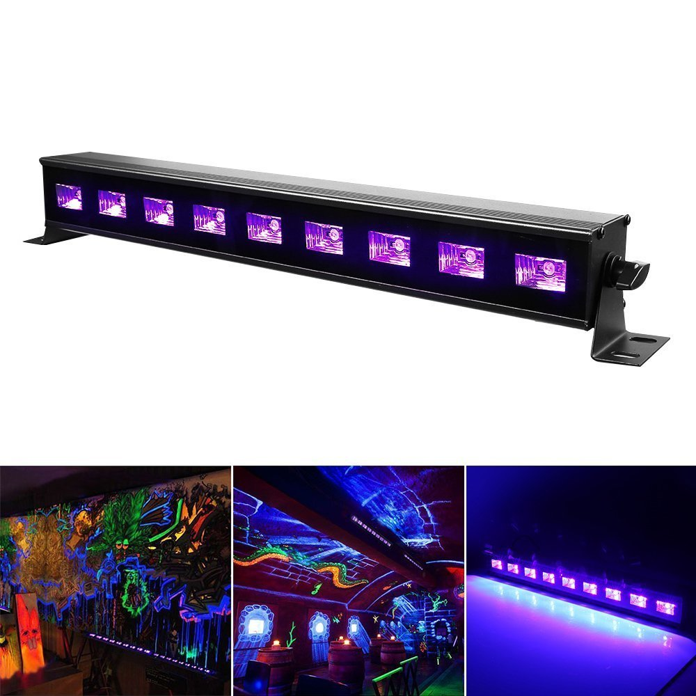 Li - UV Licht mit 9 LEDs x 3-Watt UV LED Bar,